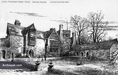 "Little Missenden Abbey, as it appeared in 1895, as seen on the website: <a href=""http://archiseek.com/2009/1895-little-missenden-abbey-buckinghamshire/"">http://archiseek.com/2009/1895-little-missenden-abbey-buckinghamshire/</a>  This is no doubt an enlargement or rebuild of the home William Fitch Arnold owned."