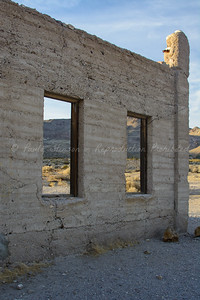 Side wall of the Rhyolite Jail