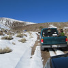 We consolidated into the 4WD vehicles for the final approach up the road.