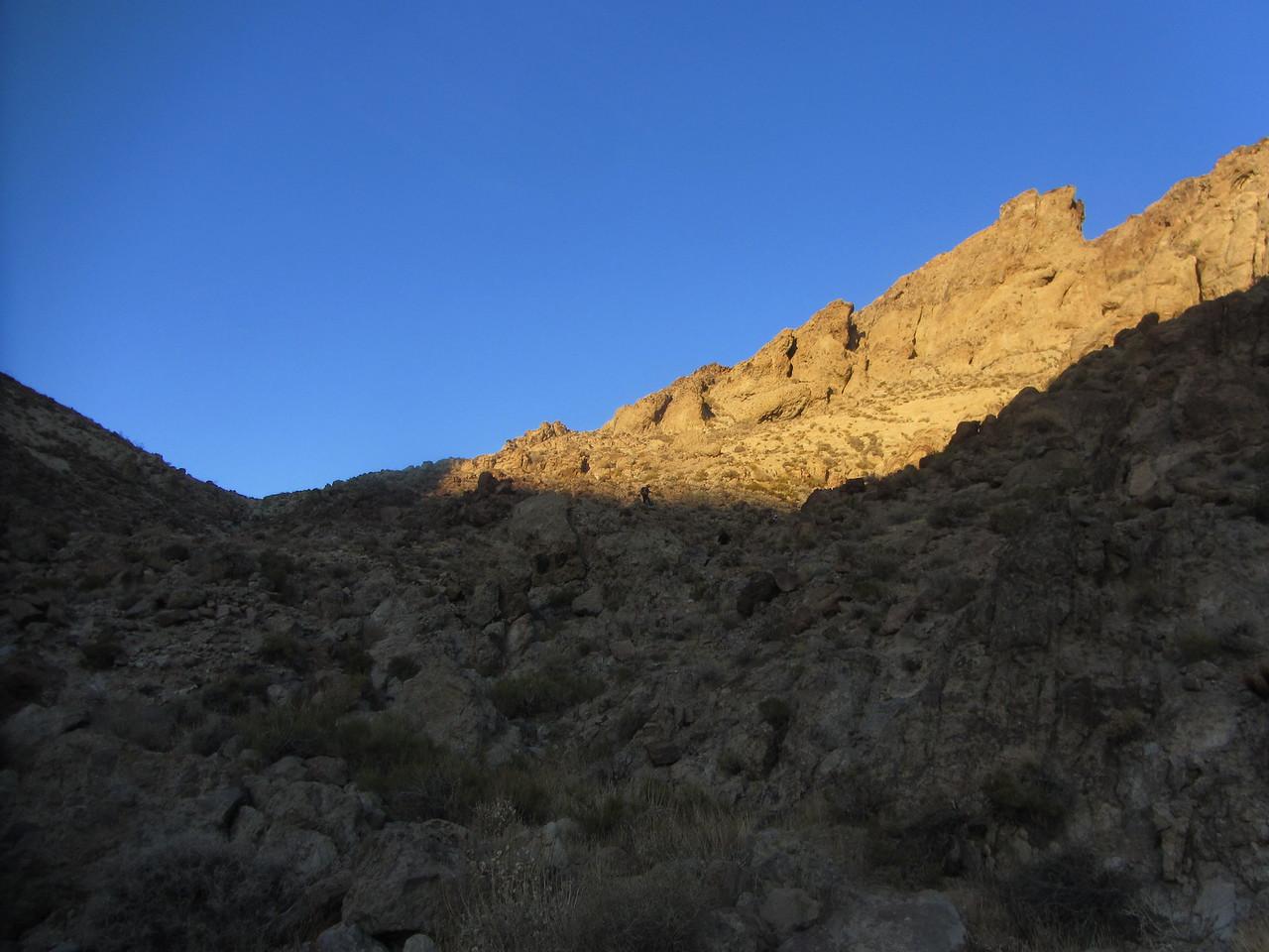 Desert alpenglow