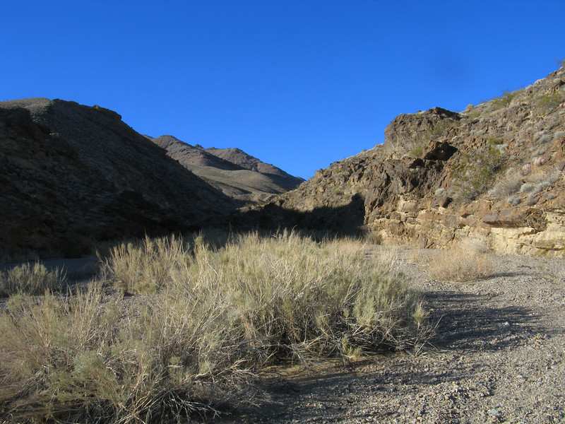 Now we're back on the desert floor - looking back