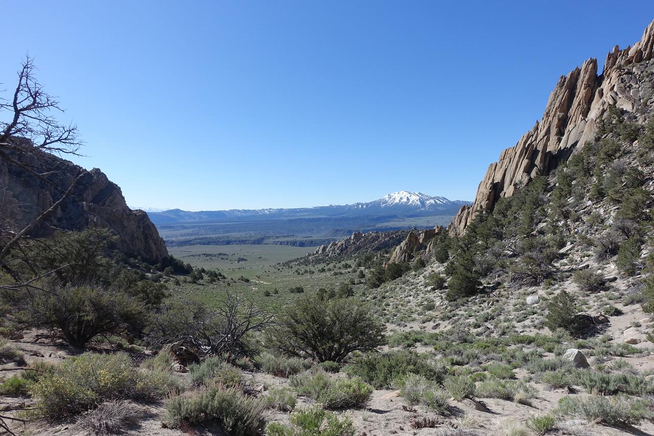 Looking back (south) as we start traversing around the base of Granite.