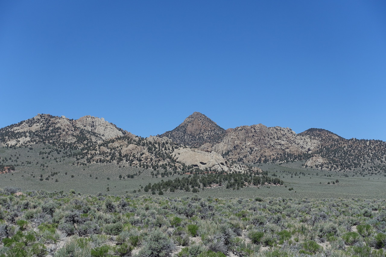 Granite Mountain as seen from hwy 120
