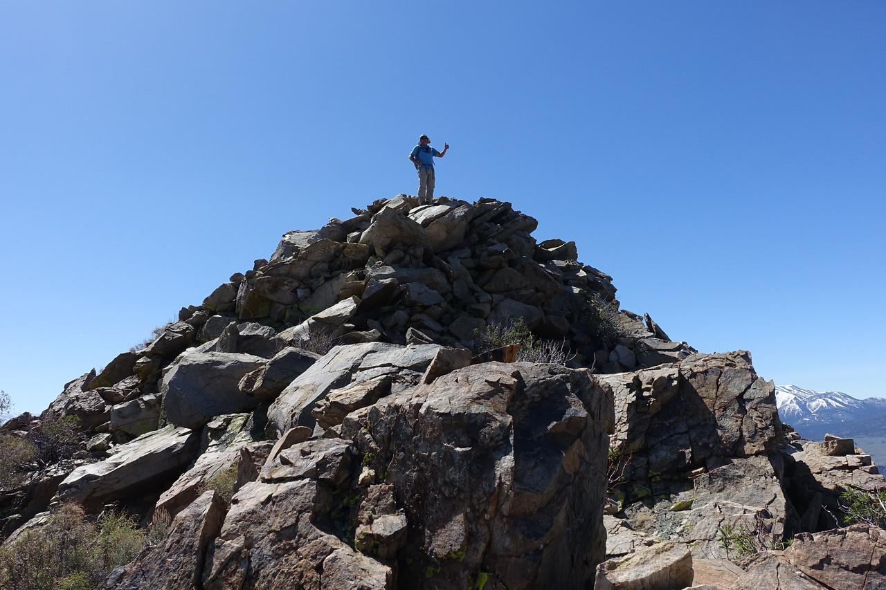 Jim on the summit