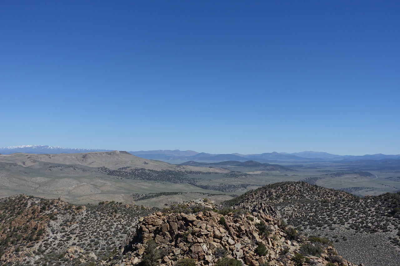 View N.  Cowtrack Mountain is the flat plateau left of center