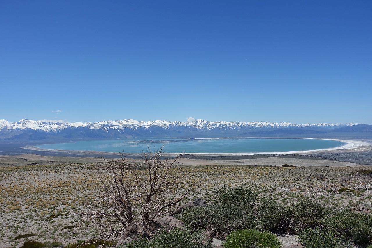 Mono lake and snowy sierras