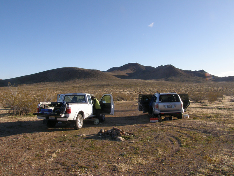 I met Sooz and Navi at their camp spot off Trona Rd.  Klinker Mountain is in the distance.