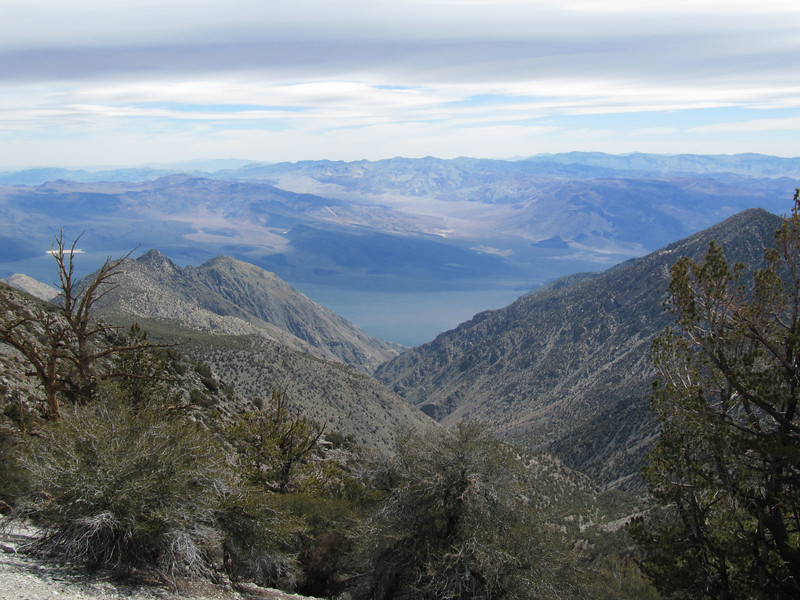 View east into Saline Valley.  Steel Pass in the distance