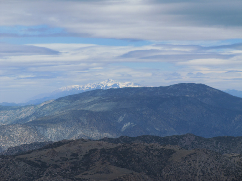 View north; White Mountain Peak in distance