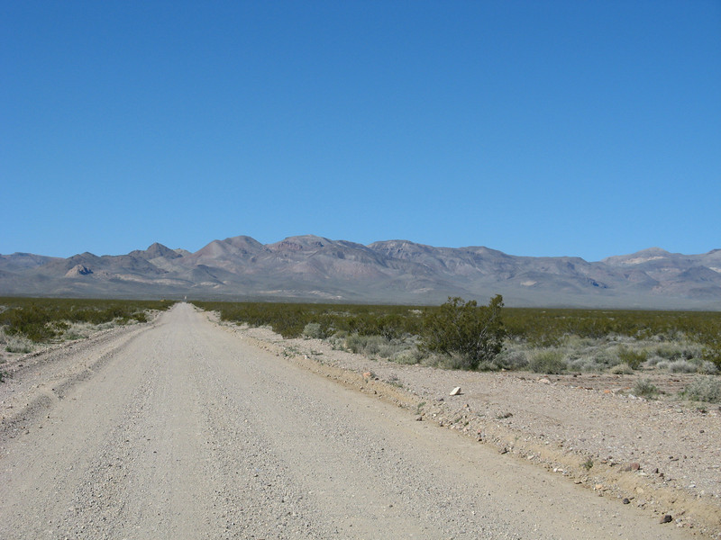 East end of Titus Canyon.  The road starts outside DVNP (mi 0.0)