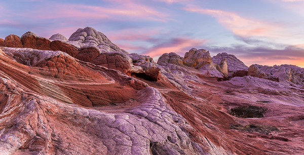 White Pocket Glow - Panoramic - White Pocket, Grand Staircase Escalante National Monument, Utah - Mark Gromko - March 2016