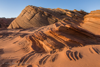 Swirls and Layers (HDR) -  The Fins,  Vermillion Cliffs National Monument, Arizona -  Nancy Varga - March 2016