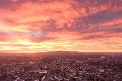 Fiery Sunset Over West Phoenix