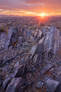 Sunset and Sunstar, Piestewa Peak