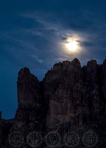 Moonrise over the Superstition Mtns Az