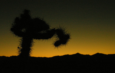 Sun disappearing on the Extraterrestrial highway, NV