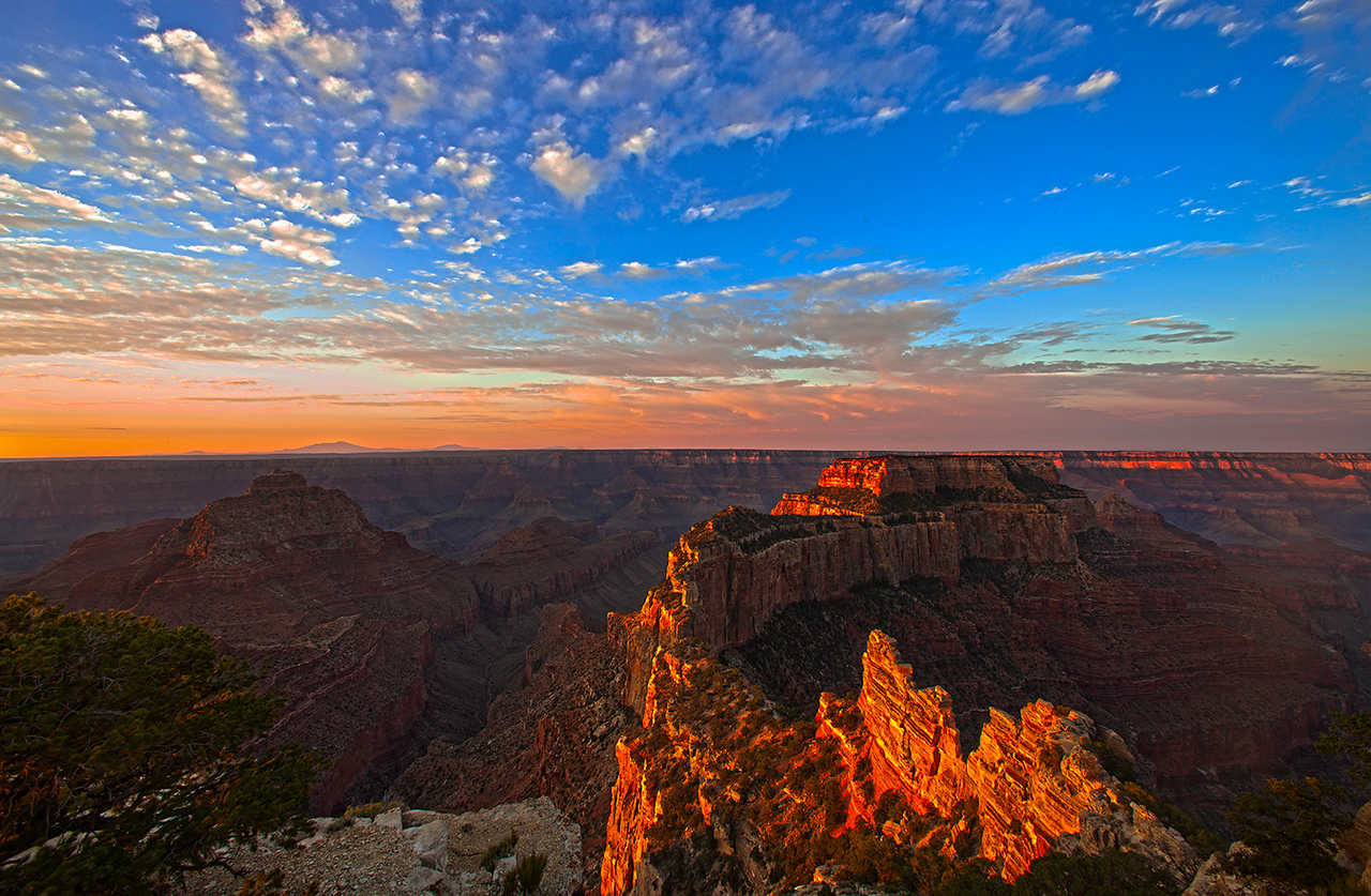 Sunrise, Wotan's Throne, North Rim, Grand Canyon