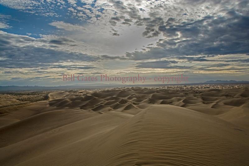 """Sand Waves - Glamis Sand Dune"" - sunrise skipping over the sand dunes"