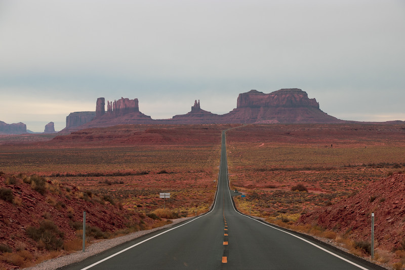 The Road in Monument Valley