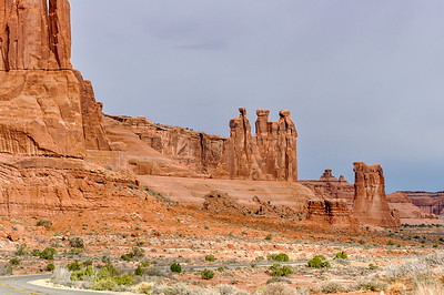 Three Gossips,  Arches national Park, Moab, Utah