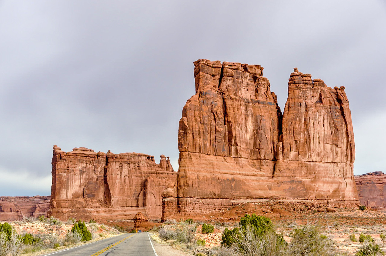 The Organ & the Tower of Babel, Arches national Park, Moab, Utah