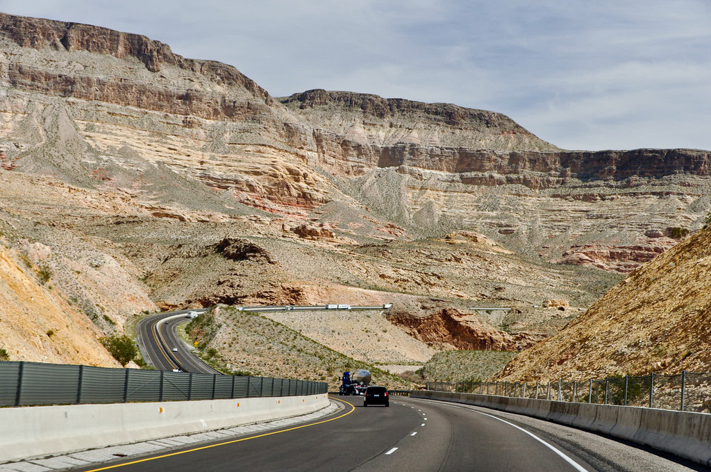 Interstate 15, heading from Las Vegas to Zion, National Park