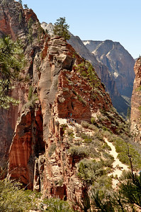 The trail to Angel's Landing, Zion National Park, Utah