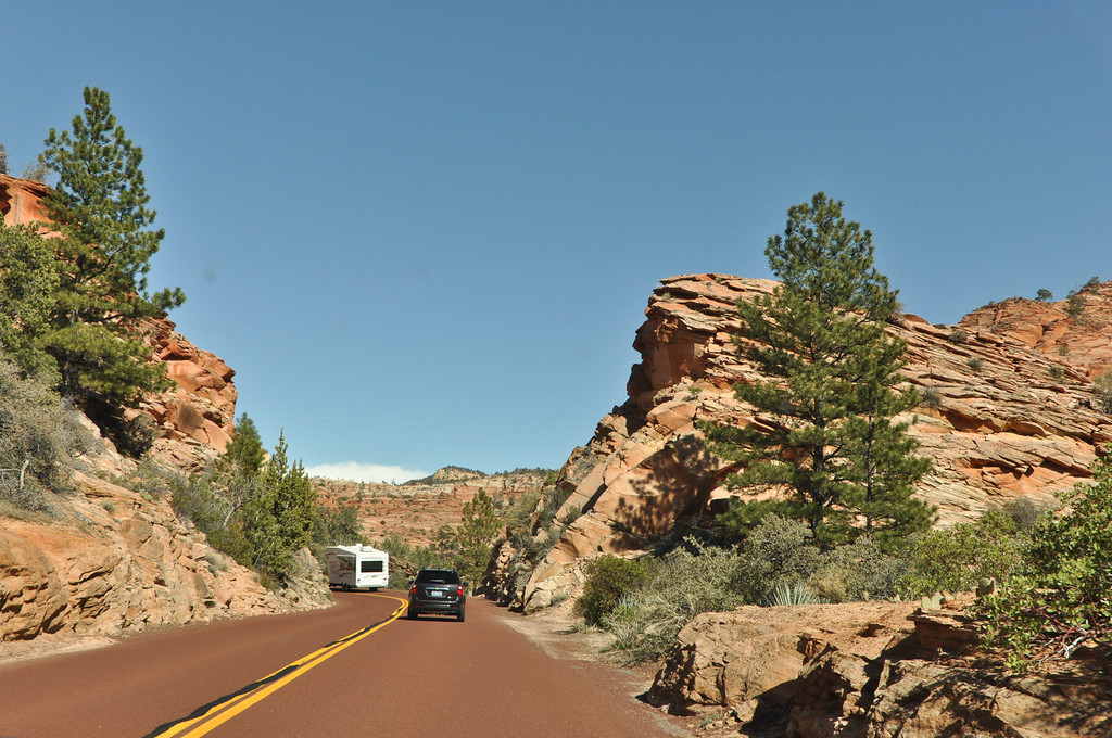 Leaving Zion National Park, Utah