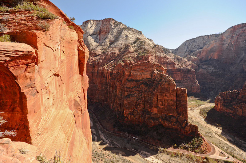 Looking down from Scouts Lookout, Zion National Park, Utah