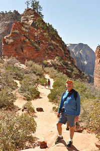 Looking from Scouts Lookout across to Angel's Landing, Zion National Park, Utah