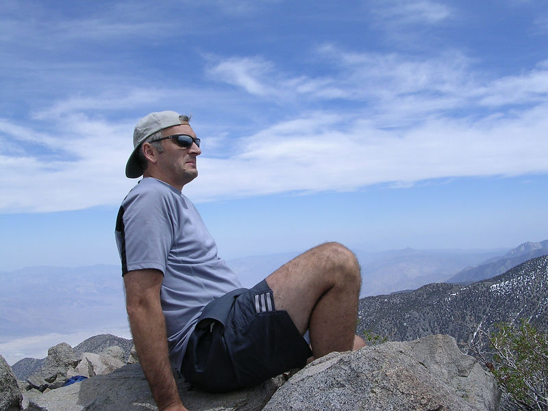 JP on the summit of Mount Inyo.