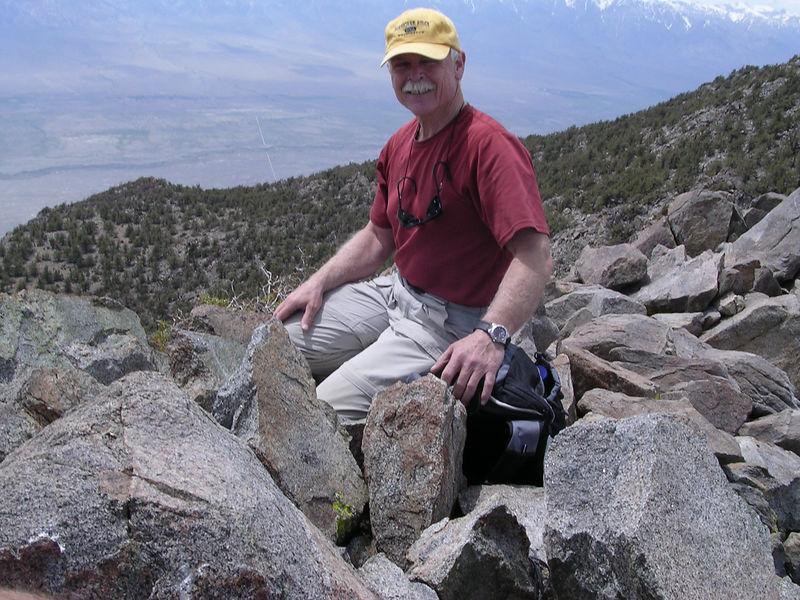 Tony on the summit of Mount Inyo.