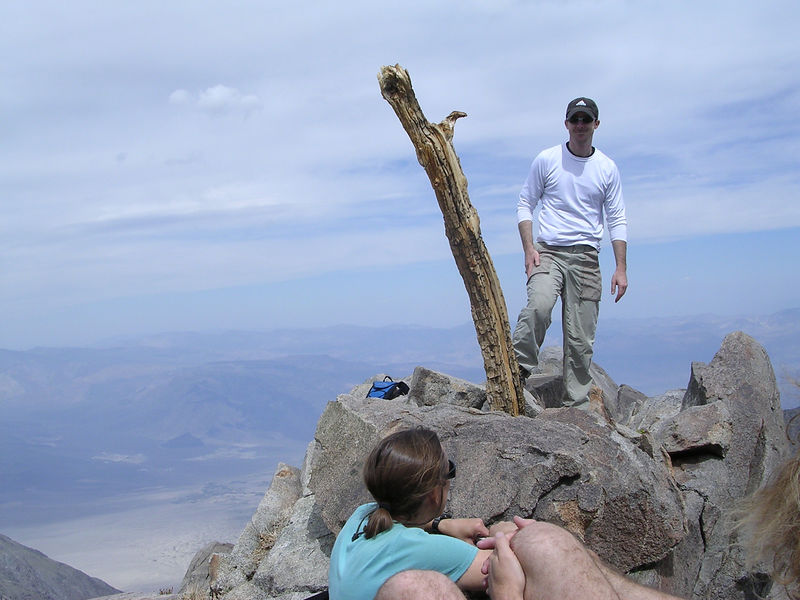 Ryan posing on the summit of Inyo Peak.