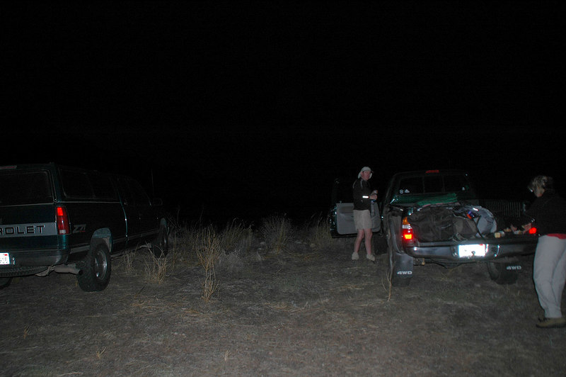 It was dark by the time we returned to the trucks.