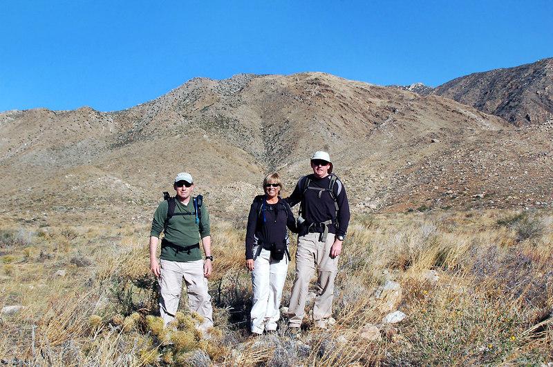 Joe (me), Sooz and John at the start of the hike.