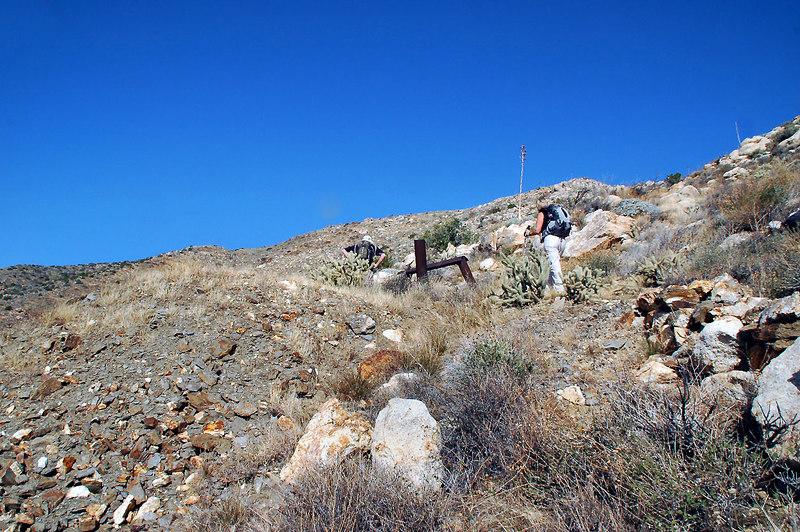 John and Sooz at the mine's entrance.
