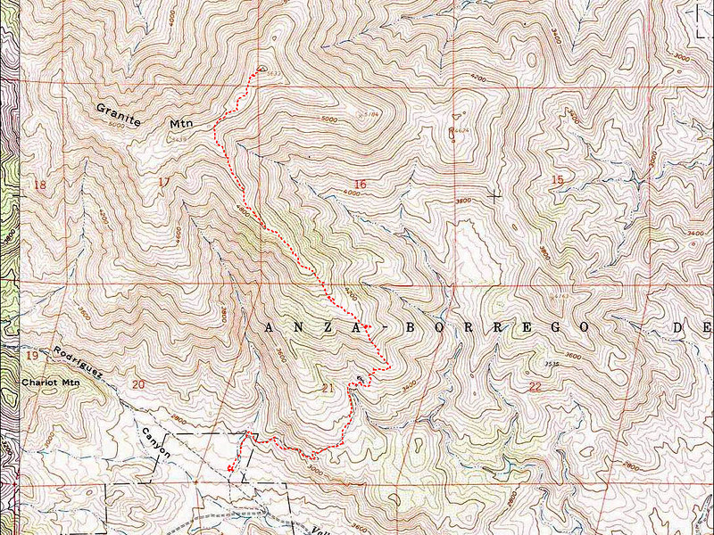 The route we used to reach the peak of Granite Mountain. <br /> <br /> THE END