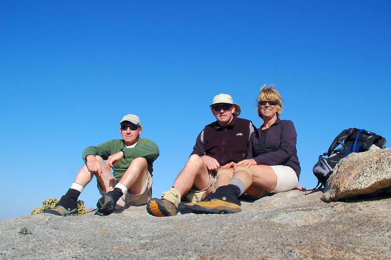 On the summit of Granite Mountain at 5,633 feet.