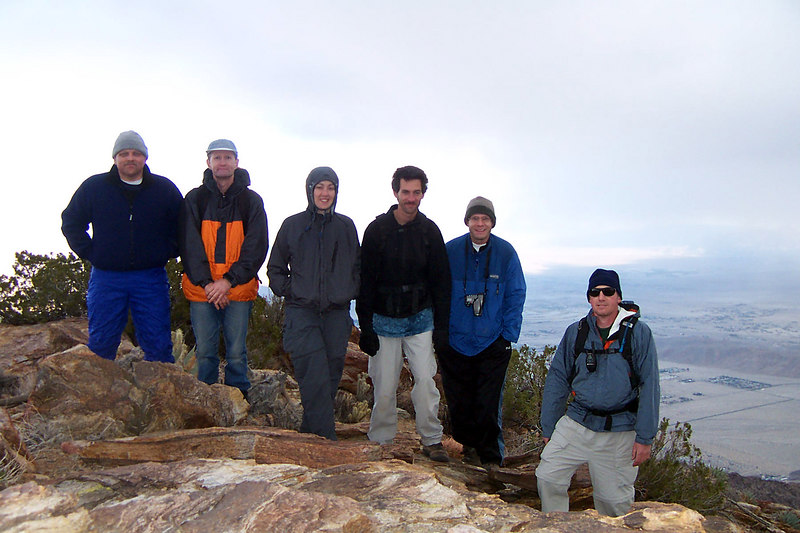 Bruce, Gary, Colleen, Jay, Tone and me on the summit at 3,960 feet. The hike had a 3,200 foot gain.