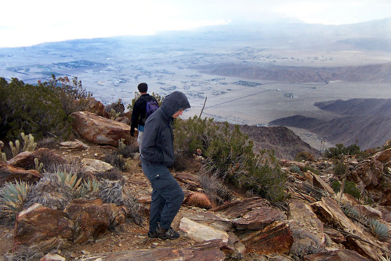 The town of Borrego Springs to the southeast.