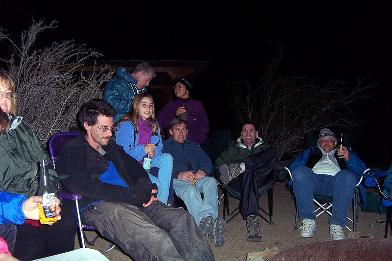 After dinner we sat around the campfire.