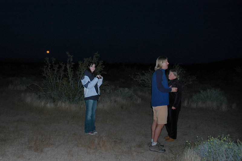 Megan, Norm and Linda. We were taking photos of the moon which is in the background.