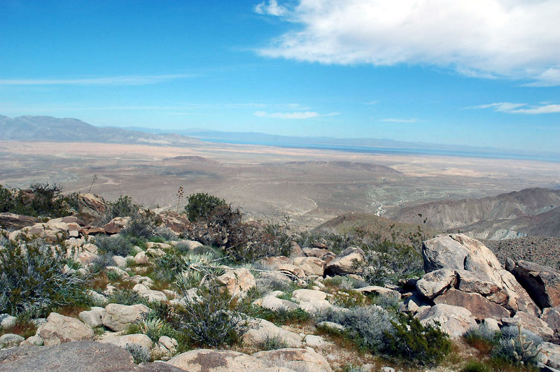 The Salton Sea from the peak.
