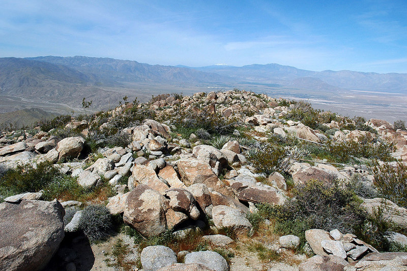 A view to the northwest with San Jacinto Peak in the distance.