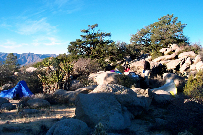 Our campsite west of the peak.