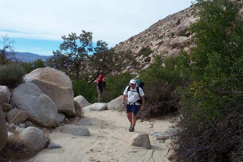 Hiking up this canyon was a series of short climbs on rocks, followed by short stretches of sand.