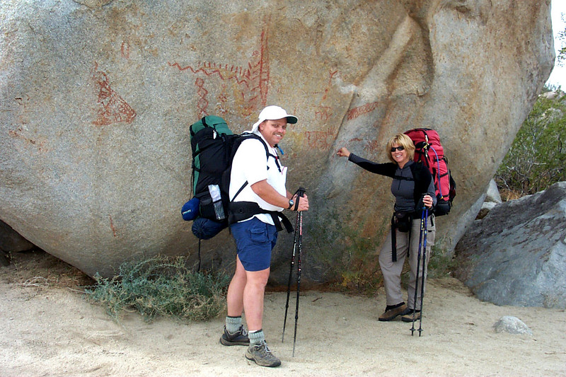 Bruce and Sooz at the pictographs.