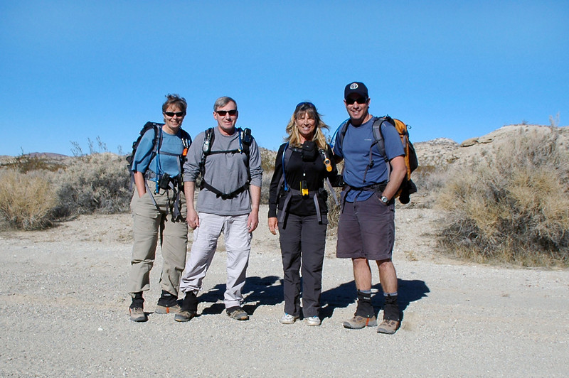 Robin, Joe(me), Sooz and Chip ready for the hike to Black Mountain.