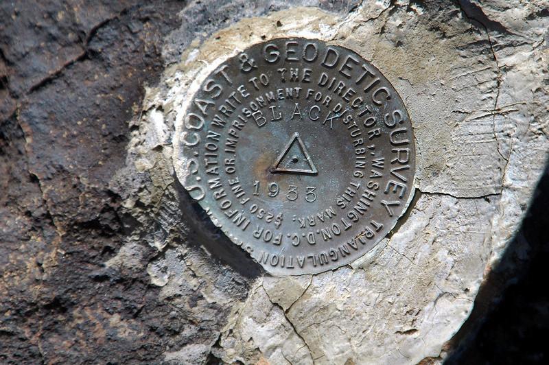 Marker on the peak.