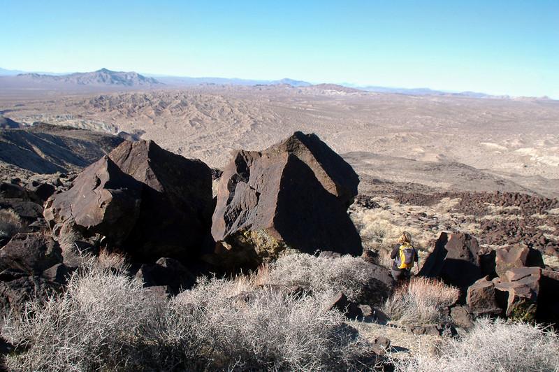 Sooz with some big rocks.